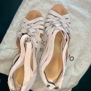 Corso Como Suede Sandal with Heels Size 8